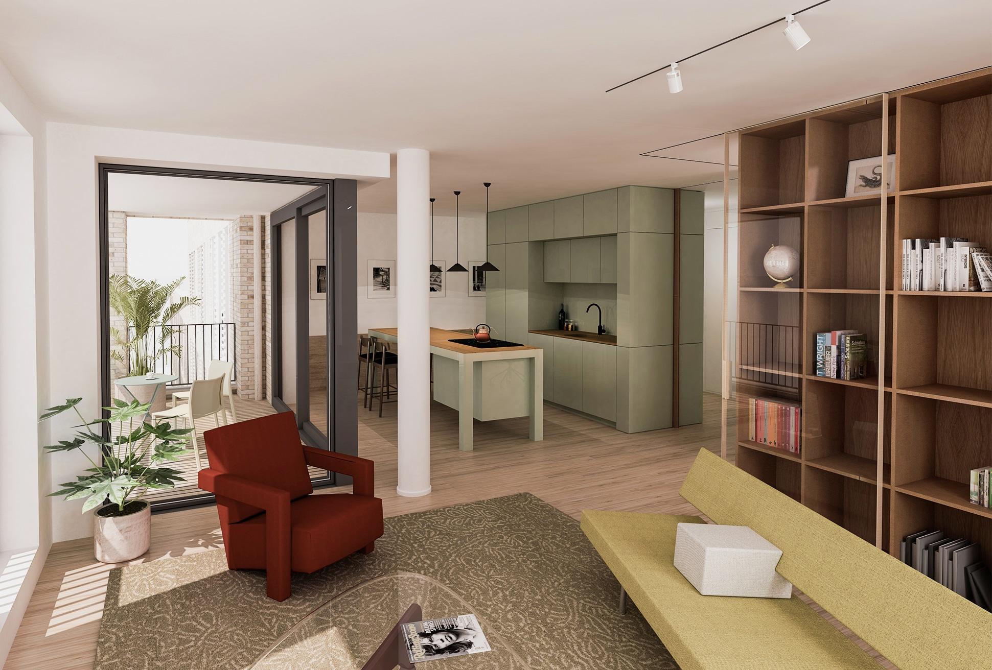 Poortmeesters interieurs 3-kamer appartement