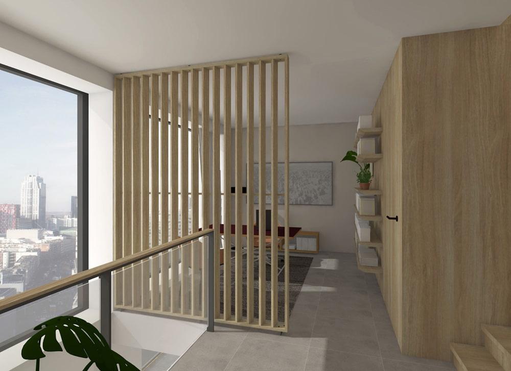 De Maasbode City Villa werkkamer en vide zijn verbonden door uitzicht