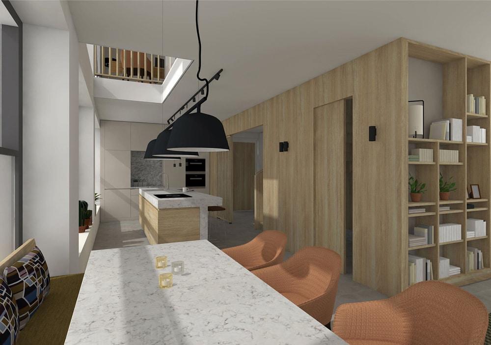 De Maasbode City Villa woonkeuken is licht en ruim