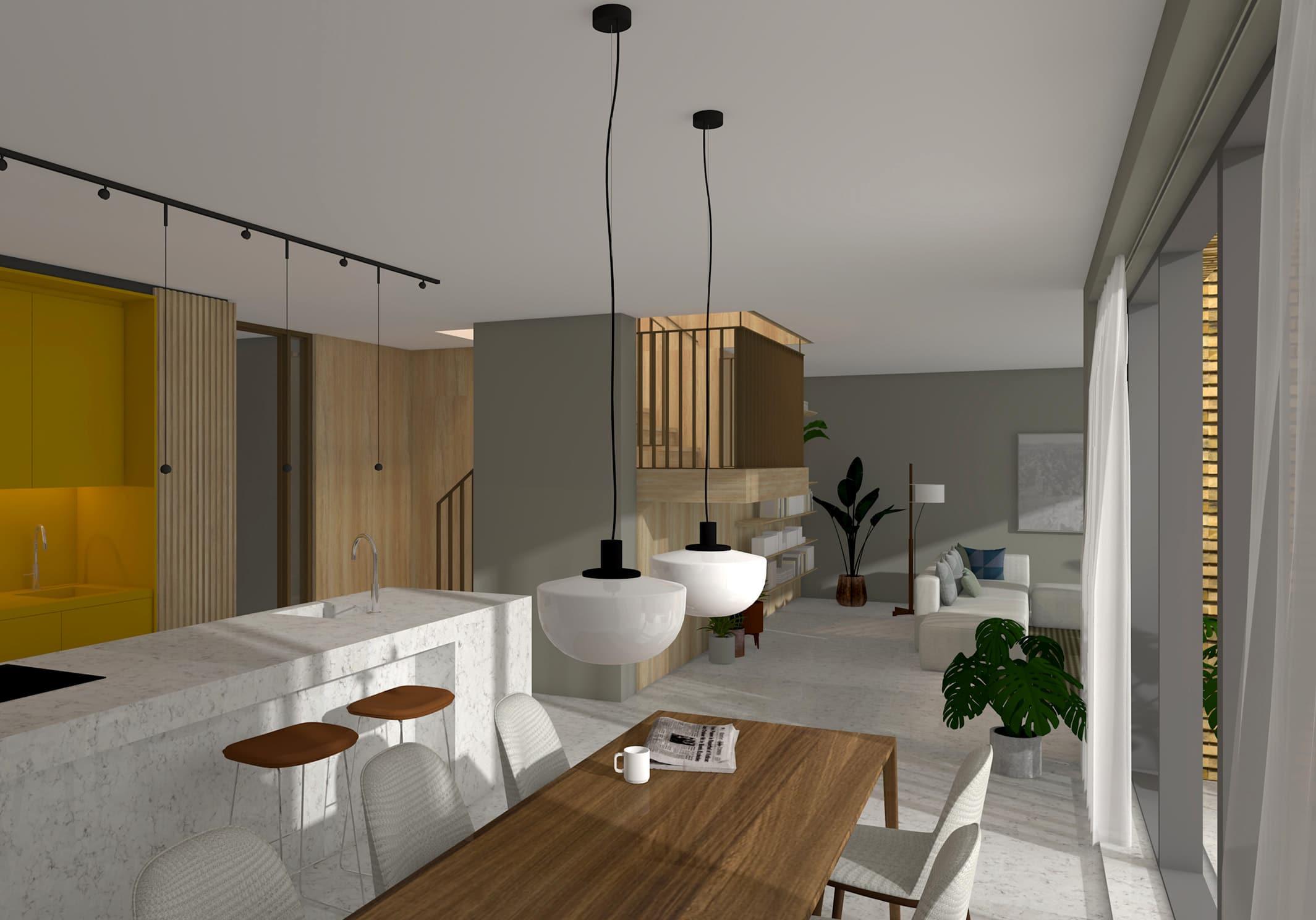 De Maasbode Topfloor keuken en lounge aan terras